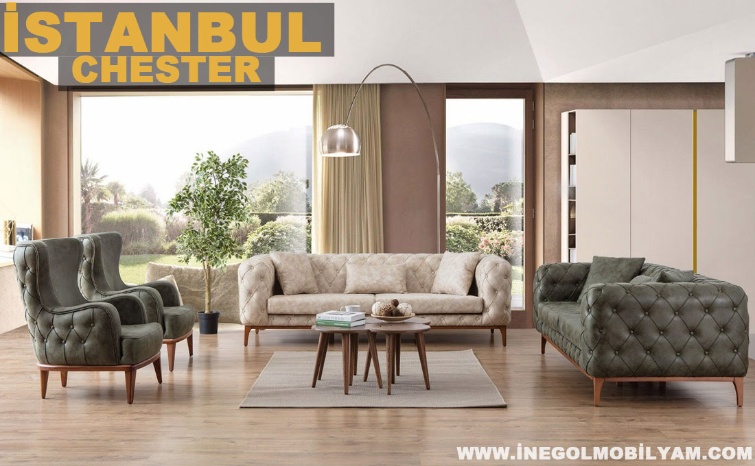 İstanbul Chester Koltuk Takımı 4999 TL