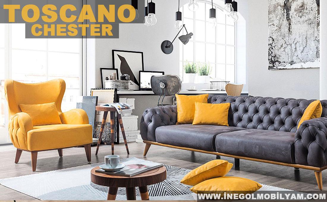 Toscano Chester Koltuk Takımı 5300 TL